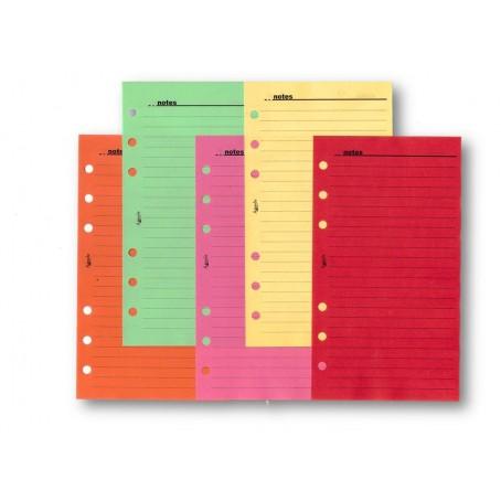 Ricambio fogli righe colorati FORTI 9 5x17 da 50 fogli per agenda organizer