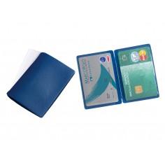 Porta carte di credito e tessere magnetiche 2 tasche ( 2 pezzi ) in tessuto plastico