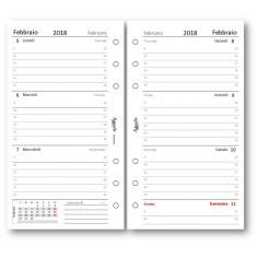 Ricambio agenda 2018 settimanale bianco 9 5 x 17 ricambio agenda organizer