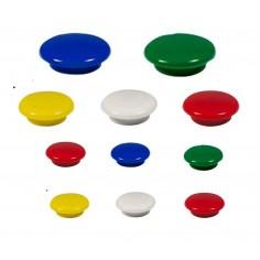 Magneti bottni lavagna bianca cancellabile 12 pezzi assortiti in colore e misura