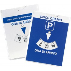 Disco orario europeo MAXI auto in parcheggio blu 12x15 con quarto d'ora