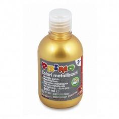 Tempera pronta metallizzata ORO da 300 ml in bottiglia con dosatore alta qualità cmp