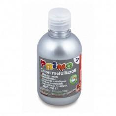 Tempera pronta metallizzata ARGENTO da 300 ml in bottiglia con dosatore alta qualità cmp