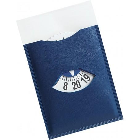 Disco orario auto europeo per parcheggio - adesivo da vetro blu con mezz'ora 7x12