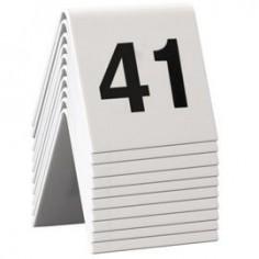 Numeri per tavoli da 41 a 50 per ristoranti, bar pizzerie ecc - in pvc bianco bifacciale