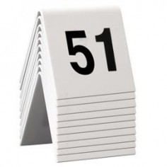 Numeri per tavoli da 51 a 60 per ristoranti, bar pizzerie ecc - in pvc bianco bifacciale