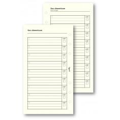 Ricambio fogli non dimenticare 9,5x17 avorio ( 50 fogli) per agenda organizer