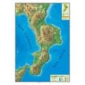 Carta geografica murale regionale Calabria  100x140 bifacciale fisica e politica