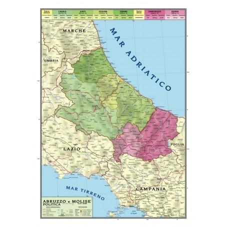 Marche Cartina Geografica Politica.Carta Geografica Murale Sicilia 100x140 Bifacciale Fisica E Politica