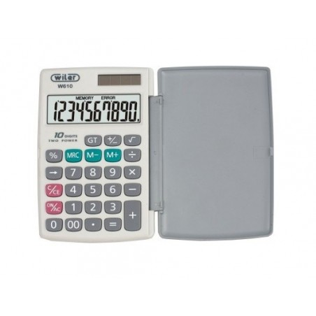 Calcolatrice tascabile BIG DIGIT 10 cifre con guscio rigido di protezione - W610