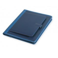 Portablocco cartella sottobraccio con porta tablet in ecopelle wien con cerniera 28x35 BLU