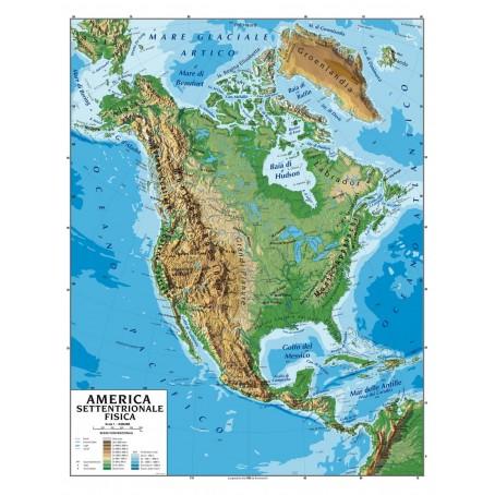 Cartina Geografica America Del Nord Fisica.Carta Geografica Murale America Del Sud 100x140 Bifacciale Fisica E Politica