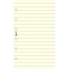 Ricambio fogli a righe AVORIO 7,7x12,7 ( (50 fogli ) per agenda organizer 50 fogli