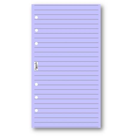 Ricambio fogli righe lilla 95x170 ( 50 fogli ) per agenda organizer