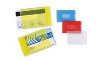 Porta tessere portacard in plastica rigida per carte di credito e tessera magnetica ( 100 pezzi )