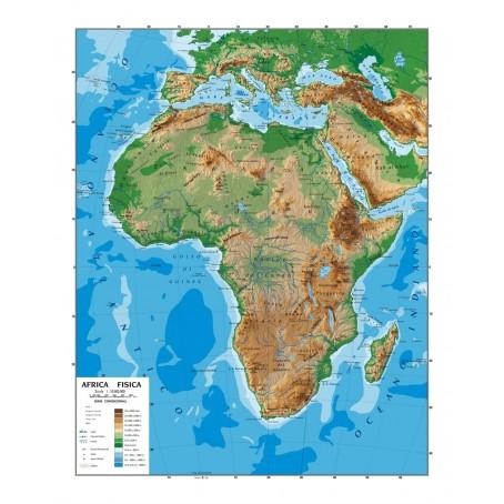 Immagini Cartina Fisica Africa.Carta Geografica Murale Africa 100x140 Bifacciale Fisica E Politica 1 10 000 Ebay