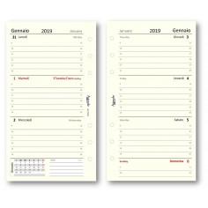Ricambio agenda 2019 settimanale avorio 9,5 x 17 bilingua ricambio agenda organizer