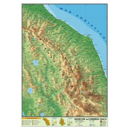 Cartina Politica Umbria E Marche.Carta Geografica Murale Sicilia 100x140 Bifacciale Fisica E Politica