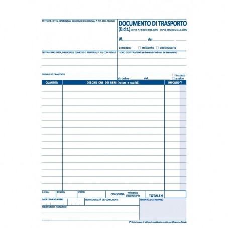 Documento di trasporto 2 copie autor 15x21 - pezzi 2