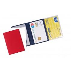 Porta carte di credito e tessere magnetiche 3 tasche ( 2 pezzi ) in PVC rosso
