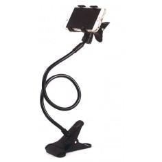 Supporto flessibile porta smarphone  EXTRA LUNGO ben 70 cm - supporto porta telefono con gancio