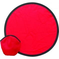 Frisbee in nylon pieghevole con custodia 21cm ( 1 pezzo ) colore rosso