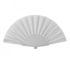 Ventaglio in Nylon e plastica di colore Bianco - 43 x 23 cm aperto
