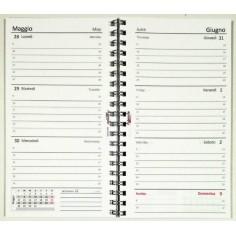 Agenda settimanale spiralata 2019 (9,5x17) bianca copertina in PVC semitrasparente
