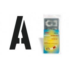 Maschera normografo lettere e numeri altezza 10 cm ideali per cartellonistica e grafica