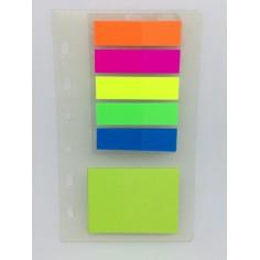 Ricambio segnapagine e foglietti removibili 7x12 per agenda organizer