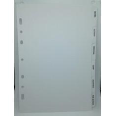 Ricambio divisori con alette bianche 14x21 bianco per agenda organizer