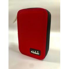 One color astuccio portacolori a 3 zip rosso completo accessori giotto