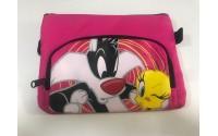 Bugs Bunny busta porta colori con doppia cerniera fucsia