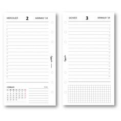 Ricambio agenda 2019 giornaliero bianco (9,5 x 17) ricambio agenda organizer