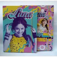 Soy Luna carpetta con elastico dorso 1,5 cm ( 1 pezzo ) con 3 alette